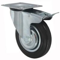 Колесо поворотное с тормозом SCb97