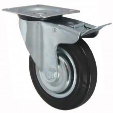 Колесо поворотное с тормозом SCb63